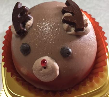 トナカイのチョコムースケーキ(セブンイレブン)「甘くて可愛い」【感想・カロリー】