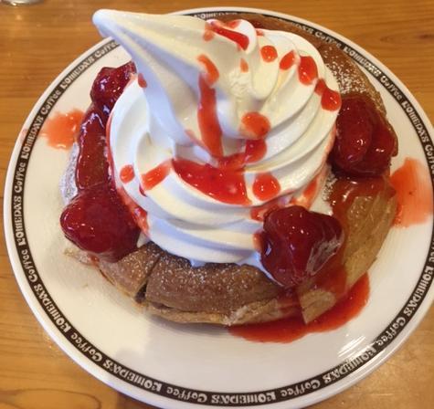 小倉ノワール(コメダ珈琲店)を食べてみた「あんこと苺!」【感想・カロリー】