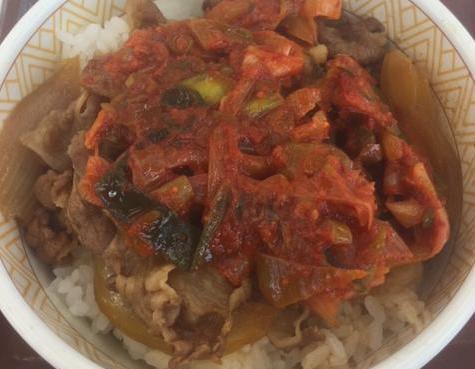 すき家のねぎキムチ牛丼を食べてみた「ピリ辛ねぎがたっぷり」【感想・カロリー】