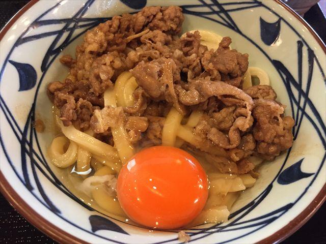 丸亀製麺の「牛すき釜玉」を食べてみた【感想・カロリー】
