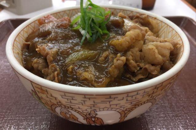 すき家の「カレー南蛮牛丼」を食べてみた【感想・カロリー】