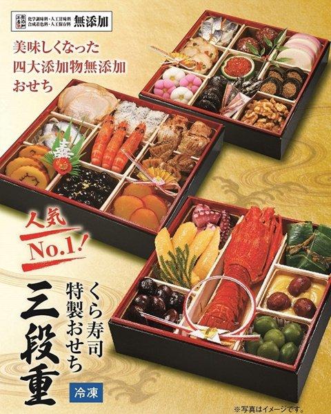 くら寿司のおせち(2021)|具材・予約特典・予約期間等