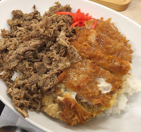 かつやの「牛丼カツ丼」を食べてみた【感想・カロリー】